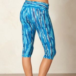 Prana Pants - Prana Blue Maison Knickers Rainblur Capri Leggings